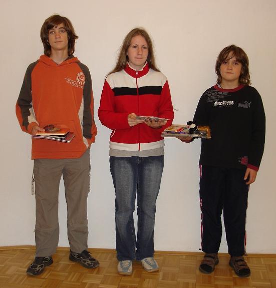 Výherci soutěží - Jirka, Míša, Honzík